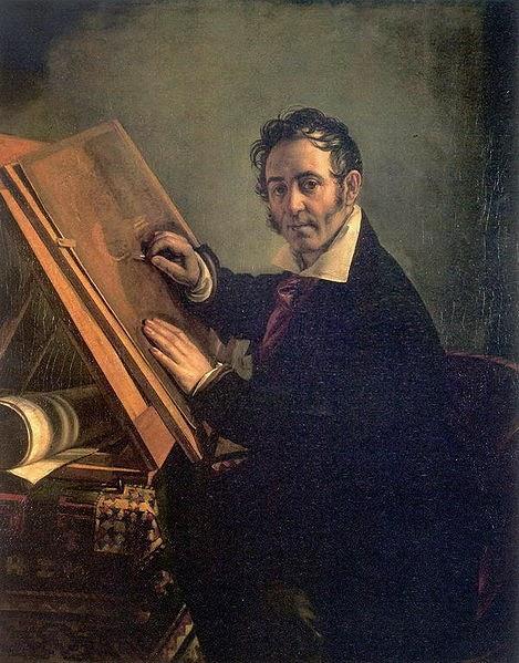 Vasily Tropinin - Portrait of Nikolai Ivanovich Utkin