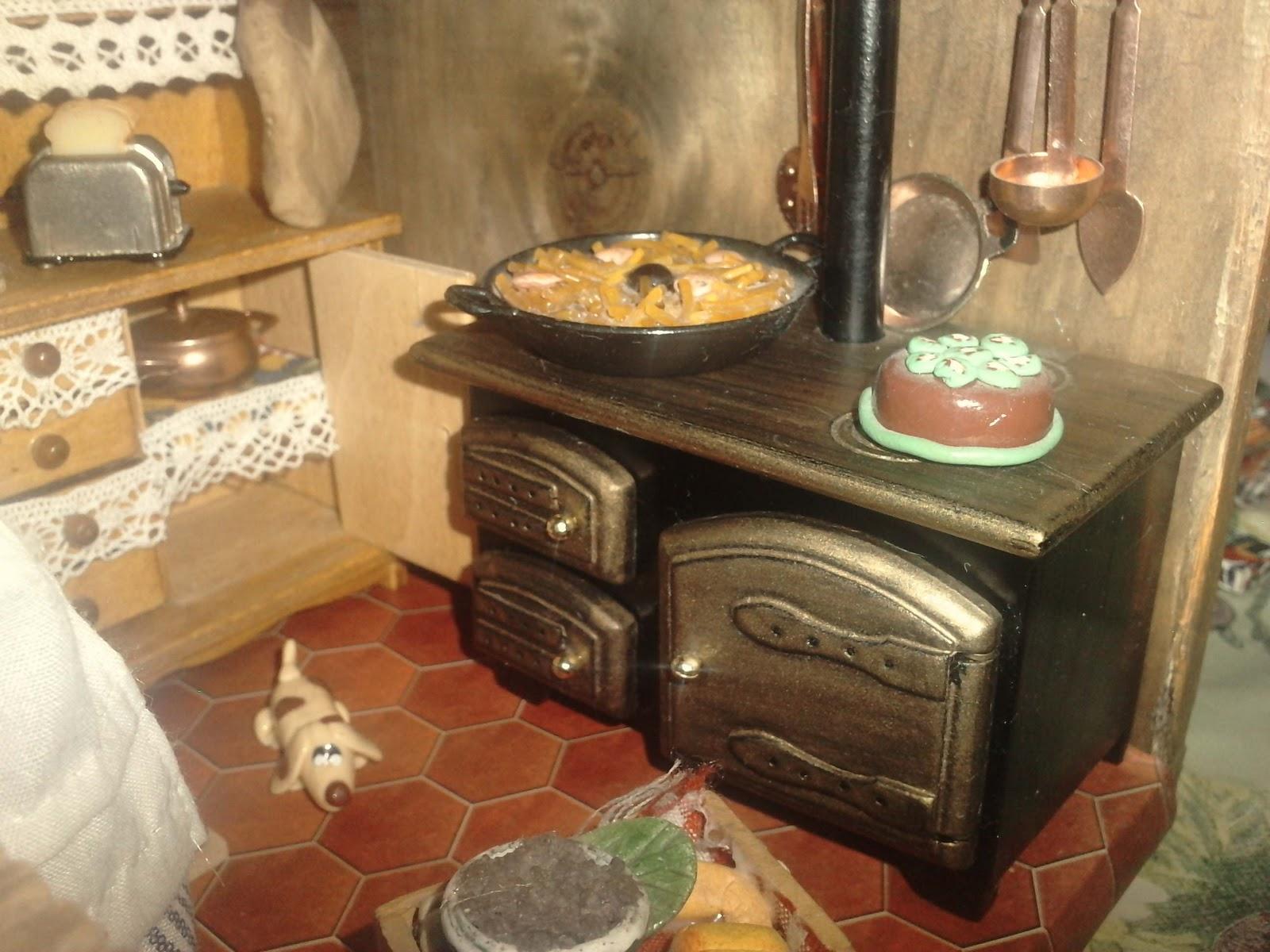 Artesania mydina escena de cocina de pueblo - Cocinas de pueblo ...