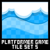 Ice Platformer Game Tile Set