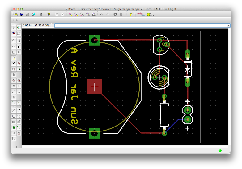 screenshot of my board layout