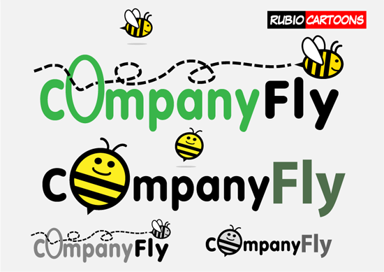 BEE MASCOT FOR COMPANY WHICH WANT TO FLY