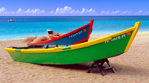 Brightly Painted Fishing Boats, Crash Boat Beach, Puerto Rico.jpg