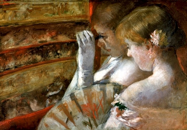 A corner of the loge - Mary Cassatt