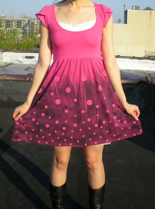 customizando vestido com spray