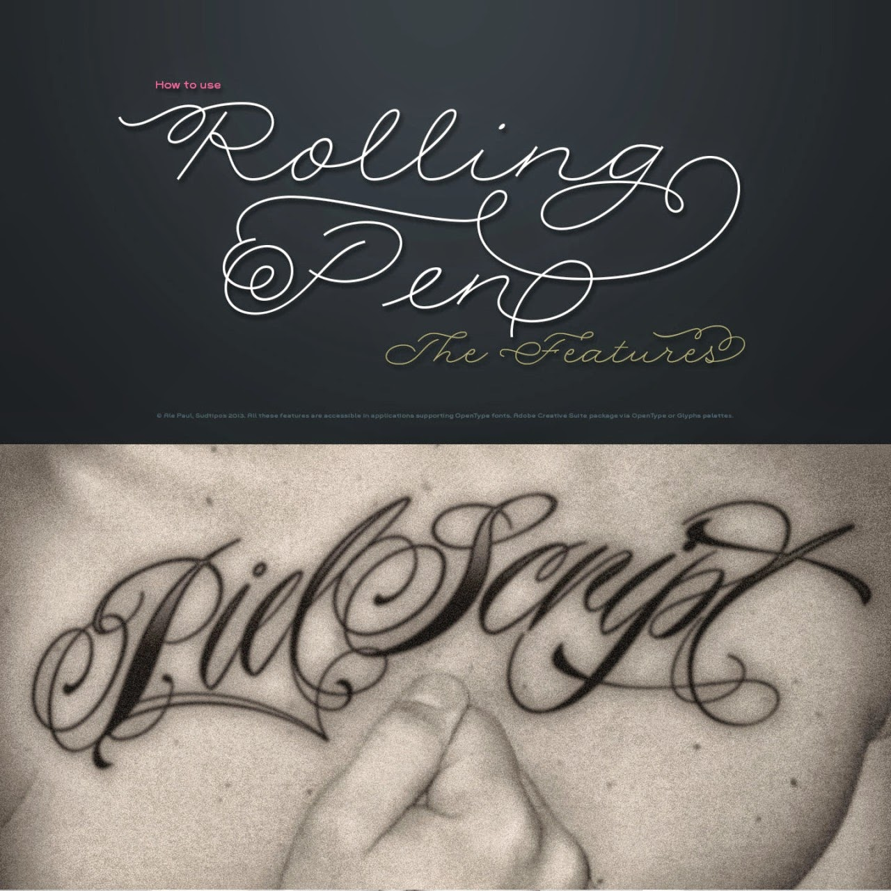 tattoo calligraphy fonts