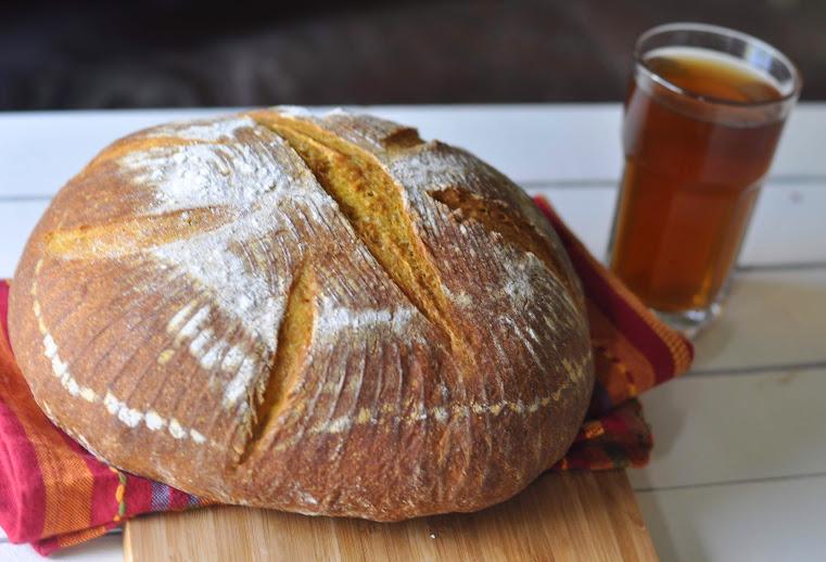 Pumpkin whey whole wheat loaf