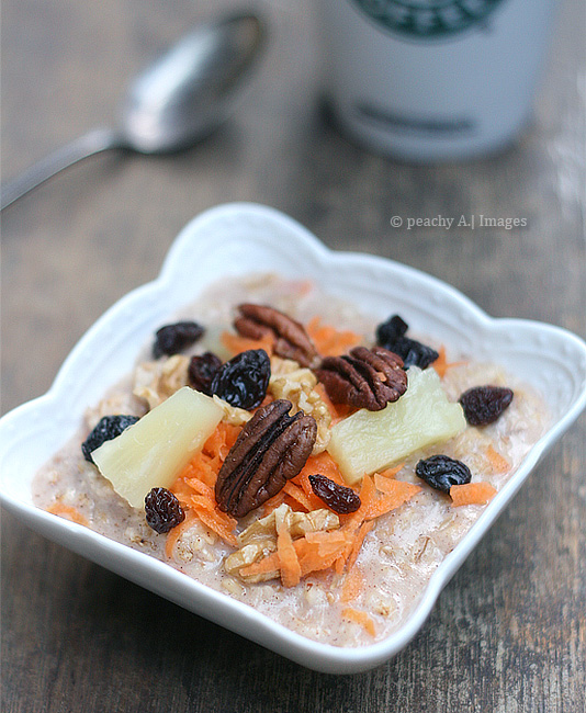 Carrot Cake Oatmeal | www.thepeachkitchen.com
