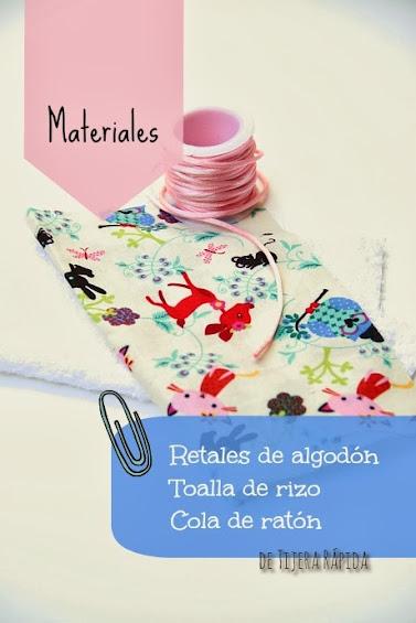 materiales toalla bebe