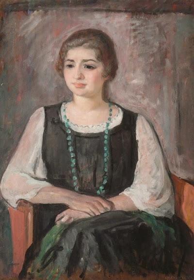 Henri Lebasque - Nono in a Green Necklace