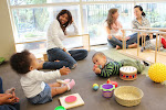 Infant Parent & Child classrooms are replete with a variety of materials for babies to manipulate & explore allowing parents to become trained observers of their children.