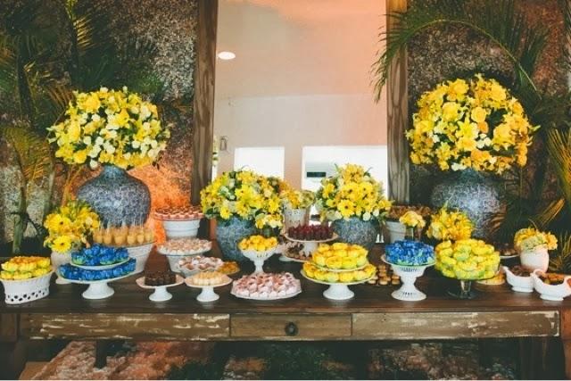 decoracao azul e amarelo casamento : decoracao azul e amarelo casamento:Casando e Amando: Decoração Azul e Amarelo