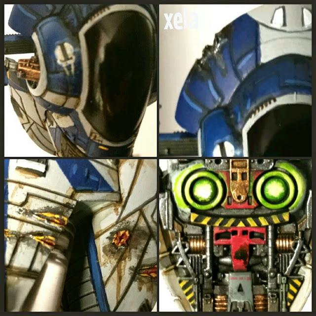 detalles en el FIRESPRAY-31 de la Escoria Scum pintado por Xela