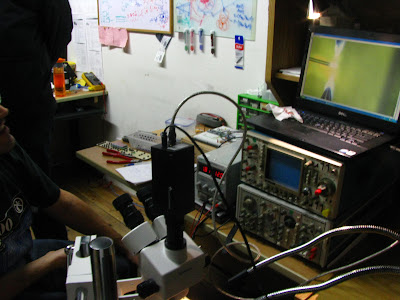 fiber being zapped on the screen