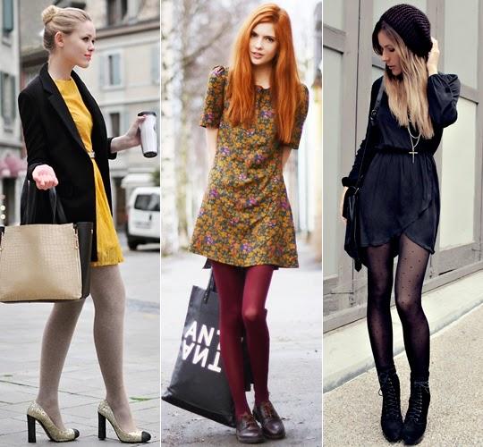 como usar vestido no inverno