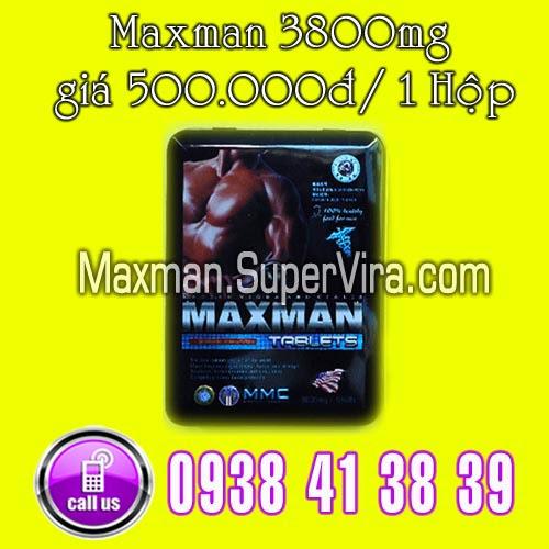 maxman, maxman 3800mg giá 1 hộp 500.000đ