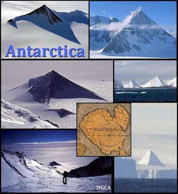 Misteriosas pirâmides descobertas na Antártida