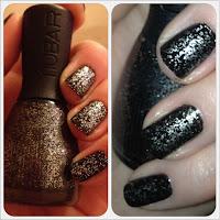 Nubar glitter top coat nail varnish polish