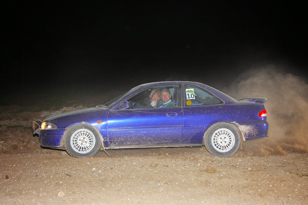 Mark Turner and Richard Pashley on their way to winning the 2014 Myotis Rally