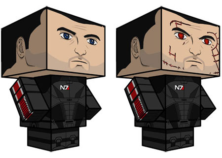 Mass Effect - Commander Shepard Papercraft