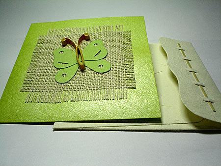 Invitaciones para imprimir: Invitación verde manzana con mariposa ...