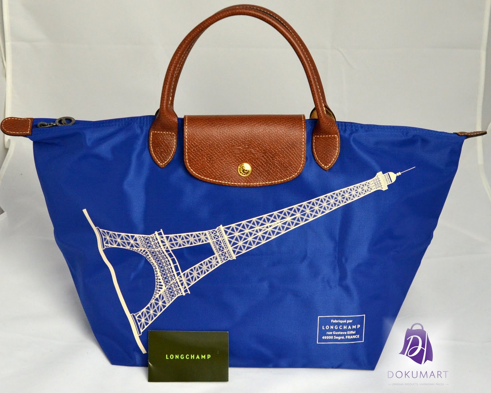 Longchamp Eiffel Laukku : Longchamp le pliage eiffel tower medium short handle