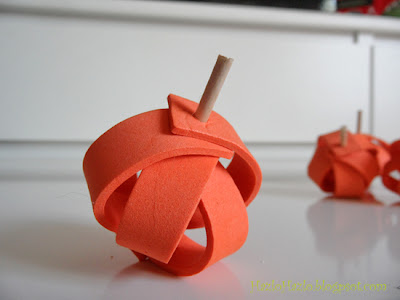 Calabazas hechas a mano.