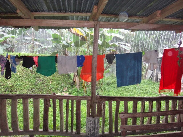 Drying laundry in Costa Rica. #StudyAbroadBecause the world gets smaller each time you do!