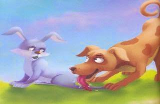 El perro y la liebre: fabulas con historias para niños