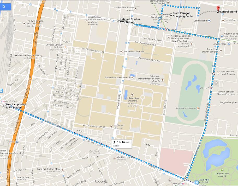Siam shopping spree map
