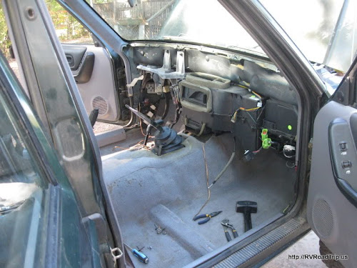 Jeep Cherokee XJ Dash Removed