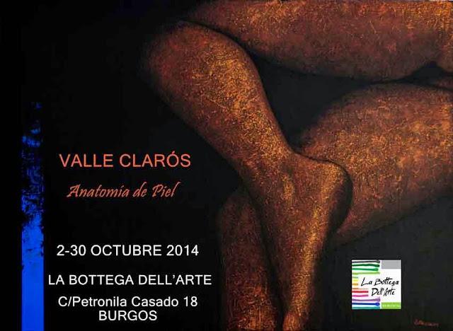 Exposición individual de Valle Clarós Lloret en La Bottega Dell'Arte, Burgos