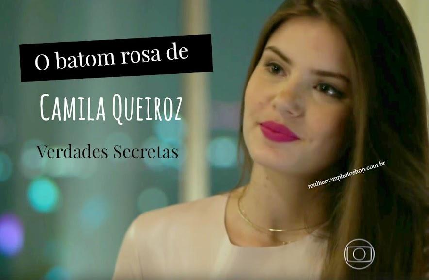 Batom rosa de Camila Queiroz, Angel de Verdades Secretas