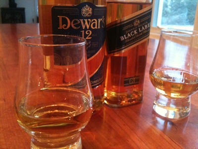 The Coopered Tot: Dewars 12 vs Johnnie Walker Black - Beauty