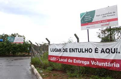 Jacareí tem hoje sete LEVs, que recebem até 1m³ de entulho gerado pela construção civil, material reciclável, poda de árvore, móveis e óleo de cozinha