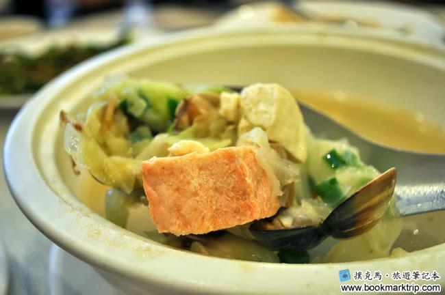鄉之味川菜館鮭魚味噌湯