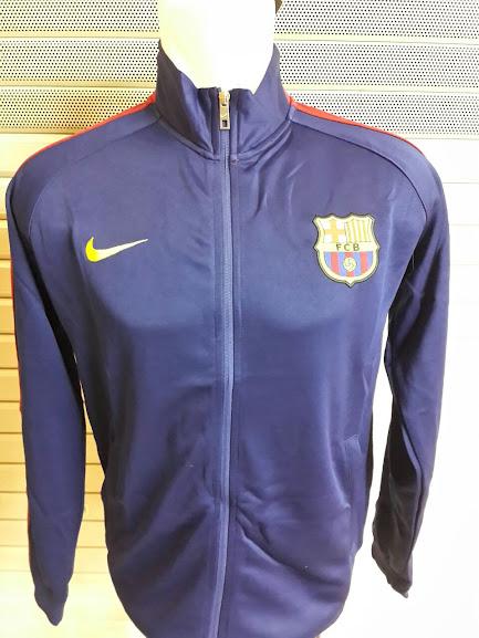 Jaket Barcelona Biru List Merah Muda 2014