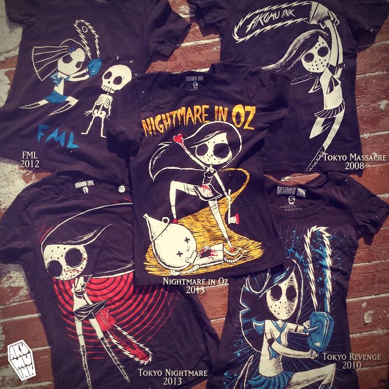 japanese goth, visual kei, harajuku tshirt, harajuku style, akumu ink, oz tshirt, chainsaw tshirt, schoolgirl shirt, japanese schoolgirl horror, japanese horror, horror shirt, horror style, horror chibi, cute horror, nightmare shirt, goth shirt, emo shirt