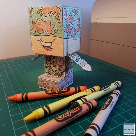 Scotty Little Soldier Papercraft
