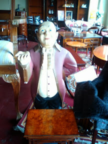 antique waiter statue