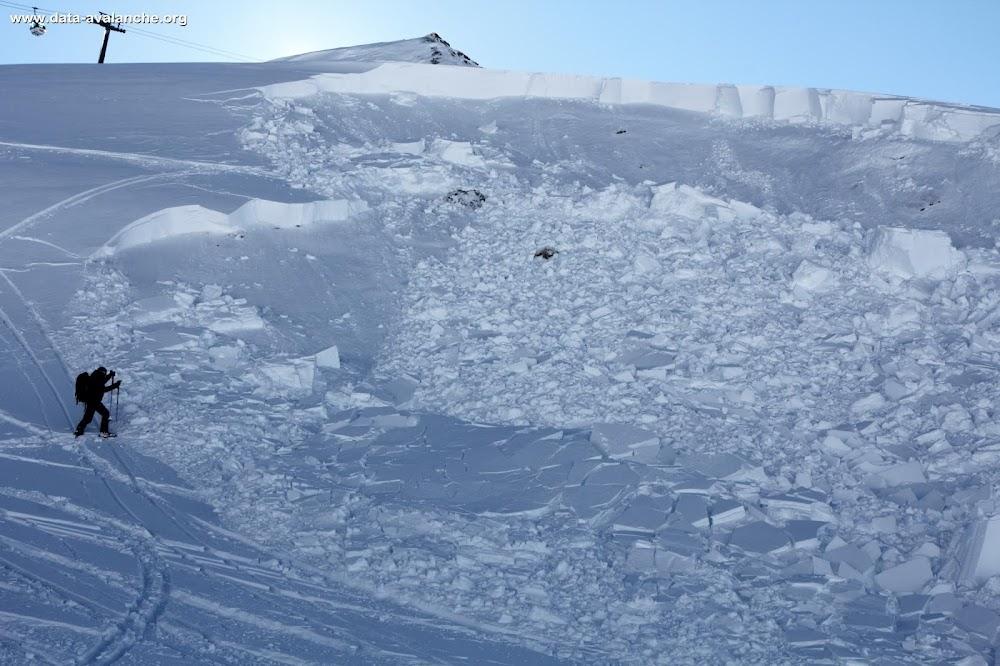 Avalanche Haute Tarentaise, secteur Tignes, Tovière - Photo 1