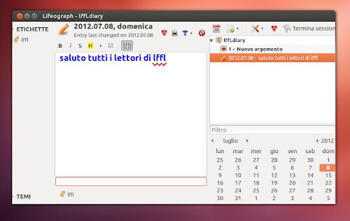 Lifeograph 0.9.0 su Ubuntu 12.04