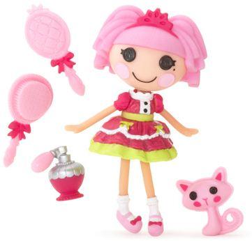 mini Lalaloopsy Jewel Sparkles, su mascota y el resto de accesorios que vienen en su cajita