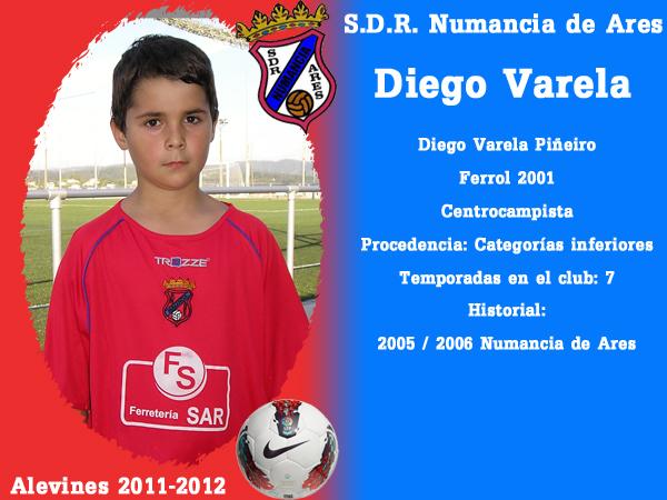 ADR Numancia de Ares. Alevíns 2011-2012. DIEGO VARELA.