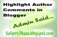 highlight author comment, comment blogspot, style cho comment blogger, Highlight bình luận của tác giả blogspot