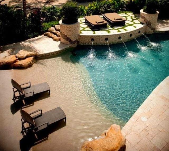 Blog estilo d cor piscina que imita praia for Estilo de piscina