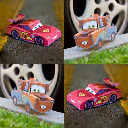 Disney Pixar Cars 2 Papercraft Lightning McQueen Mater