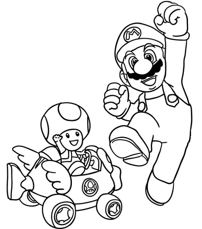 mario luigi and toad coloring pages