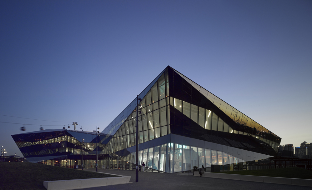 The Crystal design by  Wilkinson Eyre Architects