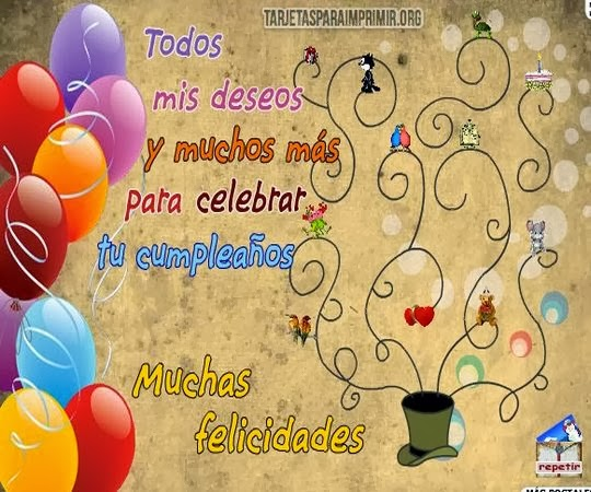 Saludos con deseos de feliz cumpleaños
