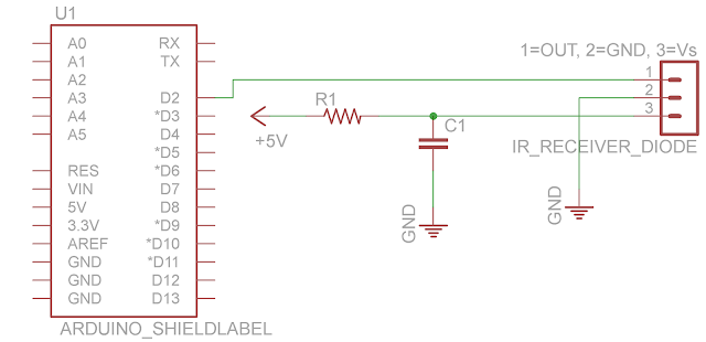 infra red receiver circuit schematic
